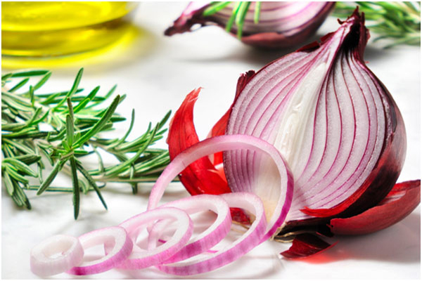 Slices of onion
